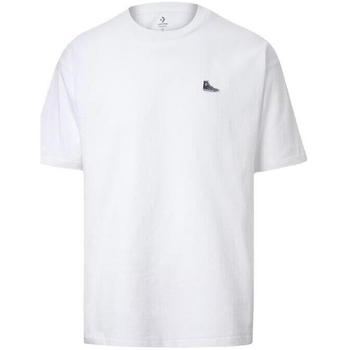 tekstylia Męskie T-shirty z krótkim rękawem Converse Chuck Taylor Shoe Patch Biały