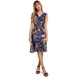 tekstylia Damskie Sukienki krótkie Moe M499 Print fit and flare dress - model 1