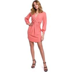 tekstylia Damskie Sukienki krótkie Makover K044 Draped shift dress - orange