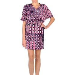 tekstylia Damskie Sukienki krótkie Stella Forest YRO059 Marine / Różowy