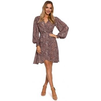 tekstylia Damskie Sukienki krótkie Moe M576 Sukienka na ramiączkach z rękawami biskupimi - model 1