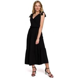 tekstylia Damskie Sukienki długie Makover K092 Sukienka na ramiączkach - lawendowa