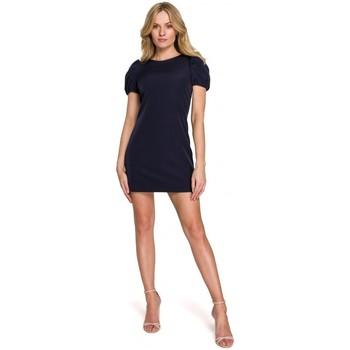 tekstylia Damskie Sukienki krótkie Makover K096 Mini sukienka z zawijaną górą - model 1