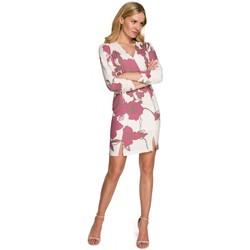 tekstylia Damskie Sukienki krótkie Makover K096 Mini sukienka z zawijaną górą - model 3