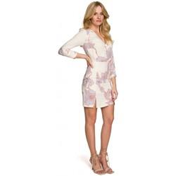 tekstylia Damskie Sukienki krótkie Makover K097 Sukienka skater z paskiem w talii - model 1