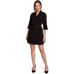 tekstylia Damskie Sukienki krótkie Style S254 Sukienka marynarska z paskiem z klamrą - zielona