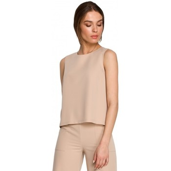 tekstylia Damskie Topy / Bluzki Style S257 Bluzka bez rękawów - czarna