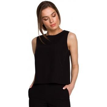 tekstylia Damskie Topy / Bluzki Style S257 Bluzka bez rękawów - zielona