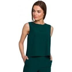 tekstylia Damskie Topy / Bluzki Style S257 Bluzka bez rękawów - błękit królewski