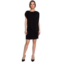 tekstylia Damskie Sukienki krótkie Style S262 Warstwowa sukienka - czarna