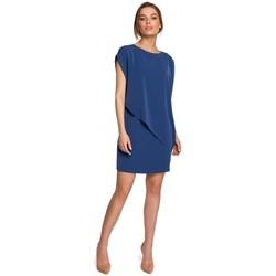 tekstylia Damskie Sukienki krótkie Style S262 Warstwowa sukienka - niebieski