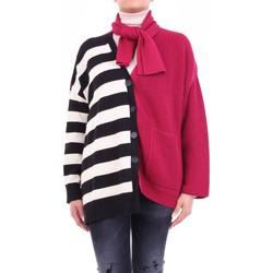 tekstylia Damskie Swetry rozpinane / Kardigany Semicouture W0SS0WG06 Bordowy i czarny