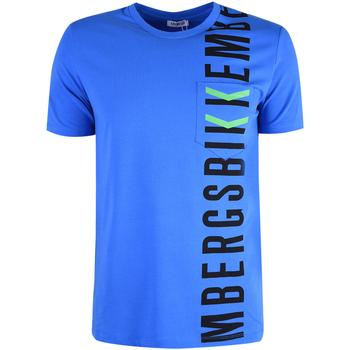 tekstylia Męskie T-shirty z krótkim rękawem Bikkembergs  Niebieski
