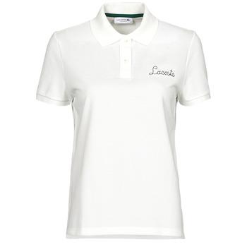 tekstylia Damskie Koszulki polo z krótkim rękawem Lacoste PF7251 Biały