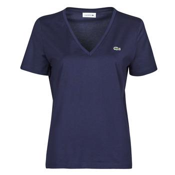 tekstylia Damskie T-shirty z krótkim rękawem Lacoste LOUIS Marine