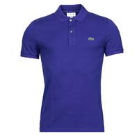 tekstylia Męskie Koszulki polo z krótkim rękawem Lacoste POLO SLIM FIT PH4012 Niebieski