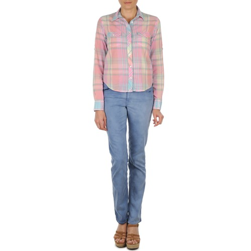 tekstylia Damskie Jeansy straight leg Gant DANA SPRAY COLORED DENIM PANTS Niebieski