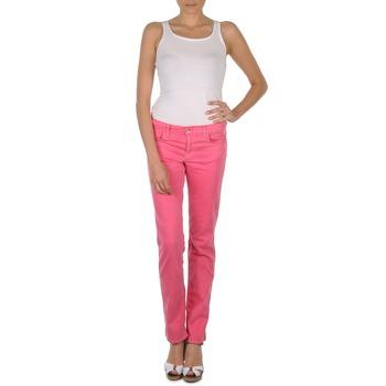 tekstylia Damskie Spodnie z pięcioma kieszeniami Gant DANA SPRAY COLORED DENIM PANTS Różowy