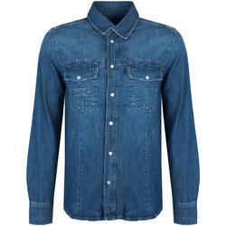 tekstylia Męskie Koszule z długim rękawem Bikkembergs  Niebieski