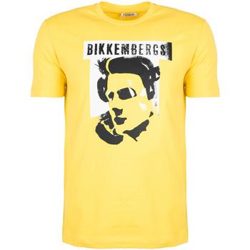 tekstylia Męskie T-shirty z krótkim rękawem Bikkembergs  Żółty