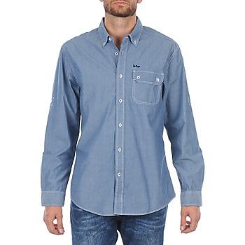 tekstylia Męskie Koszule z długim rękawem Lee Cooper Greyven Niebieski