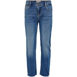 tekstylia Dziewczynka Jeansy straight leg Only Kids Jeans fille  Emily raw medium blue denim