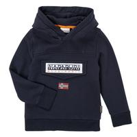 tekstylia Chłopiec Bluzy Napapijri BURGEE Marine