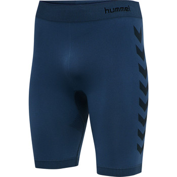 tekstylia Męskie Szorty i Bermudy Hummel Short de compression  hmlfirst training bleu marine