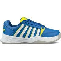 Buty Dziecko Tenis K-Swiss Chaussures enfant  ks tfw court smash bleu foncé/jaune/blanc