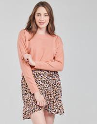 tekstylia Damskie Bluzy Only ONLAMALIA Różowy