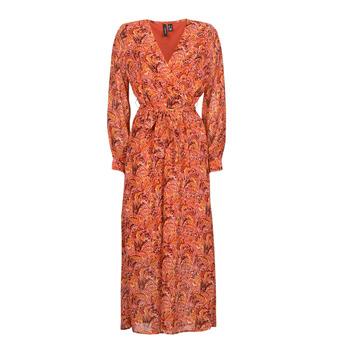tekstylia Damskie Sukienki długie Vero Moda VMFLOW Czerwony