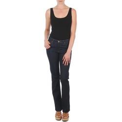 tekstylia Damskie Jeansy straight leg Lee MARION STRAIGHT Niebieski