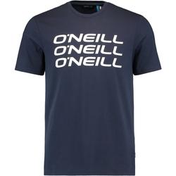 tekstylia Męskie T-shirty z krótkim rękawem O'neill Triple Stack Niebieski