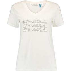 tekstylia Damskie T-shirty z krótkim rękawem O'neill Triple Stack Biały
