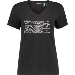 tekstylia Damskie T-shirty z krótkim rękawem O'neill Triple Stack Czarny