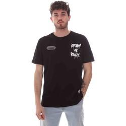 tekstylia Męskie T-shirty z krótkim rękawem Disclaimer 21EDS50587 Czarny
