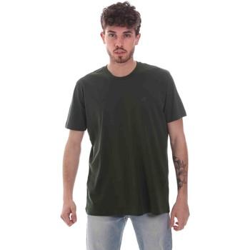 tekstylia Męskie T-shirty z krótkim rękawem Key Up 2M915 0001 Zielony