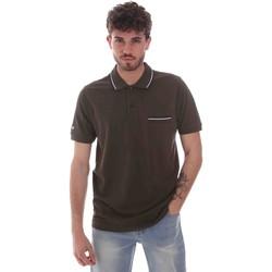 tekstylia Męskie Koszulki polo z krótkim rękawem Key Up 2Q827 0001 Zielony