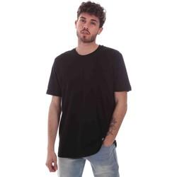 tekstylia Męskie T-shirty z krótkim rękawem Key Up 2M915 0001 Czarny