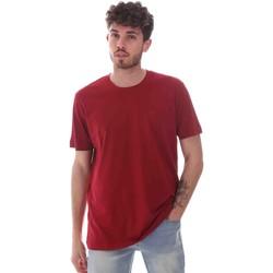 tekstylia Męskie T-shirty z krótkim rękawem Key Up 2M915 0001 Czerwony