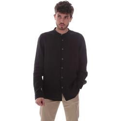 tekstylia Męskie Koszule z długim rękawem Sseinse CE643SS Czarny
