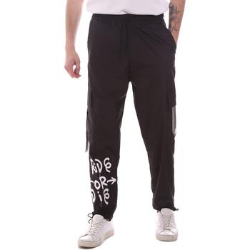 tekstylia Męskie Spodnie bojówki Disclaimer 21EDS50560 Czarny