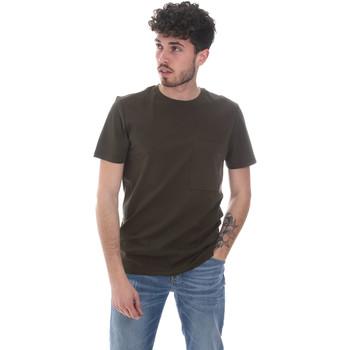 tekstylia Męskie T-shirty z krótkim rękawem Antony Morato MMKS02023 FA100229 Zielony