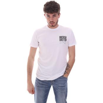 tekstylia Męskie T-shirty z krótkim rękawem Antony Morato MMKS01993 FA120001 Biały