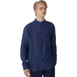 tekstylia Męskie Koszule z długim rękawem Trussardi 52C00154-1T002248 Niebieski