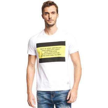 tekstylia Męskie T-shirty z krótkim rękawem Gaudi 111GU64071 Biały