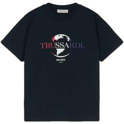 tekstylia Męskie T-shirty z krótkim rękawem Trussardi 52T00443-1T005227 Czarny