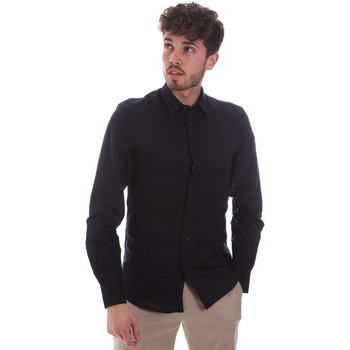 tekstylia Męskie Koszule z długim rękawem Antony Morato MMSL00628 FA400074 Niebieski