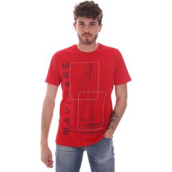 tekstylia Męskie T-shirty z krótkim rękawem Navigare NV31109 Czerwony