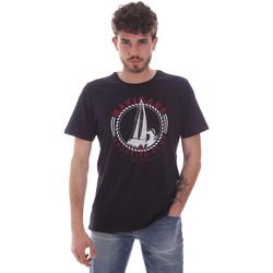 tekstylia Męskie T-shirty z krótkim rękawem Navigare NV31113 Niebieski